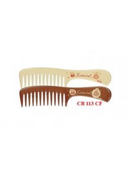 Lược chải đầu răng to (nâu đậm, kem) 113CF