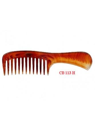 Lược chải đầu (nhựa mầu nâu trong, vân đồi mồi) CB113H