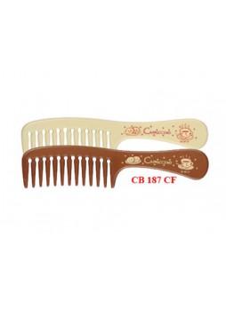 Lược chải đầu răng to (nâu đậm,kem) 187CF